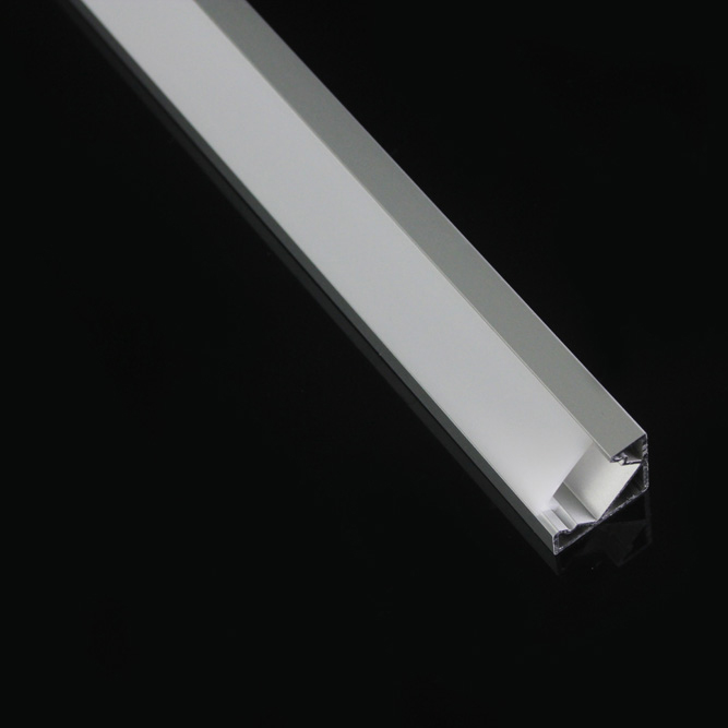 Led Extrusion Aluminum Corner Profiles With Flat Cover