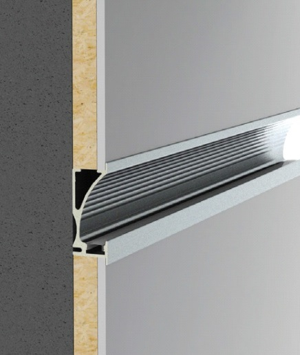 Wall Mounted Aluminum Profile For Led With Pmma Diffusers